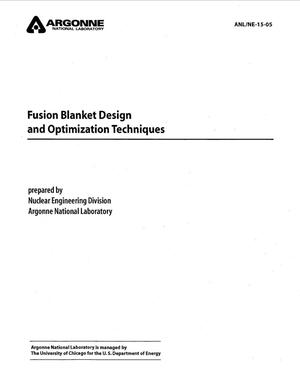 Primary view of object titled 'Fusion blanket design and optimization techniques.'.
