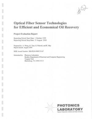 Primary view of object titled 'OPTICAL FIBER SENSOR TECHNOLOGIES FOR EFFICIENT AND ECONOMICAL OIL RECOVERY'.