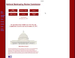 Primary view of object titled 'National Bankruptcy Review Commission'.