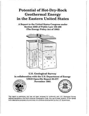 Primary view of object titled 'Potential of Hot-Dry-Rock Geothermal Energy in the Eastern United States'.