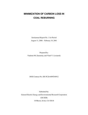 Primary view of object titled 'MINIMIZATION OF CARBON LOSS IN COAL REBURNING'.