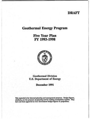 Primary view of object titled 'Geothermal Energy Program: Five Year Plan FY 1993-1998'.