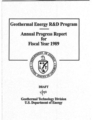 Primary view of object titled 'Geothermal Energy R&D Program: Annual Progress Report for Fiscal Year 1989'.