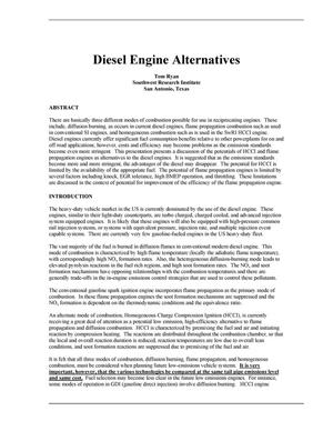 Primary view of object titled 'Diesel Engine Alternatives'.