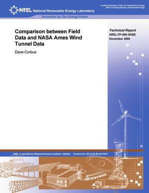 Primary view of object titled 'Comparison Between Field Data and NASA Ames Wind Tunnel Data'.