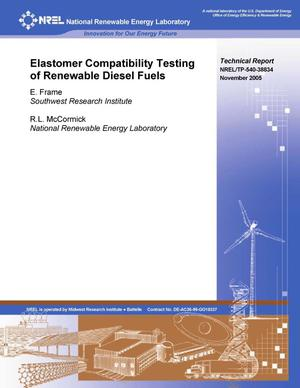 Primary view of object titled 'Elastomer Compatibility Testing of Renewable Diesel Fuels'.