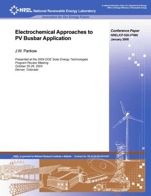 Primary view of object titled 'Electrochemical Approaches to PV Busbar Application'.