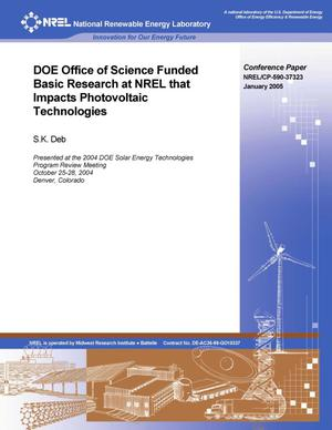 Primary view of object titled 'DOE Office of Science Funded Basic Research at NREL that Impacts Photovoltaic Technologies'.