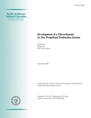Primary view of object titled 'Development of a Microchannel In Situ Propellant Production System'.