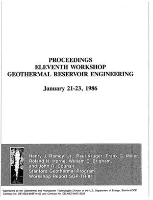 Primary view of object titled 'Eleventh workshop on geothermal reservoir engineering: Proceedings'.
