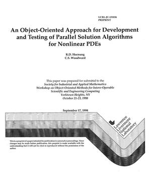 Primary view of object titled 'An object-oriented approach to development and testing of parallel solution algorithms for nonlinear PDES'.