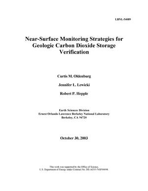 Primary view of object titled 'Near-surface monitoring strategies for geologic carbon dioxide storage verification'.