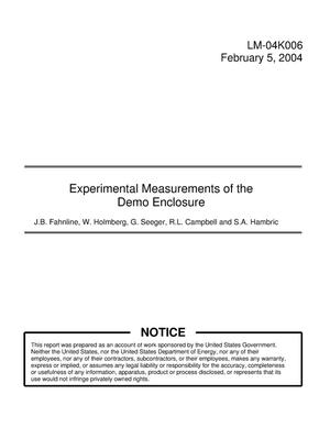 Primary view of object titled 'Experimental Measurements of the Demo Enclosure'.