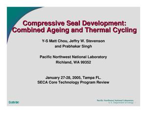 Primary view of object titled 'Compressive Seal Development: Combined Ageing and Thermal Cycling Compressive'.