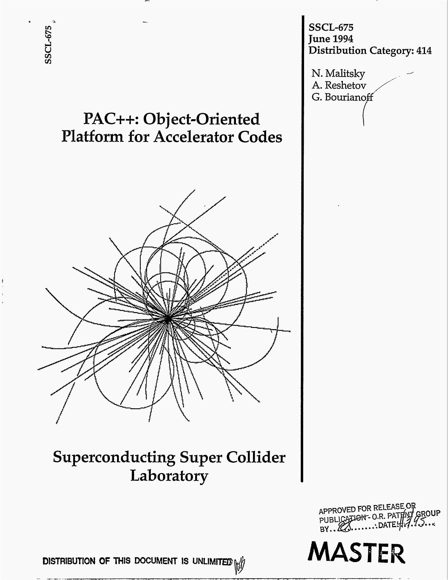 PAC++: Object-oriented platform for accelerator codes                                                                                                      [Sequence #]: 1 of 38