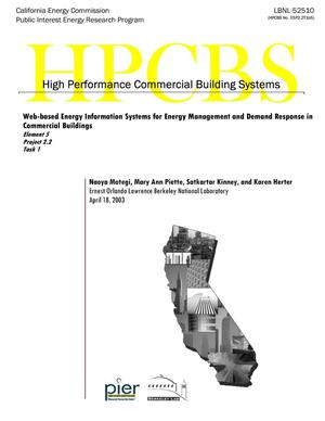 Primary view of object titled 'Web-based energy information systems for energy management and demand response in commercial buildings'.