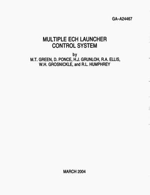 Primary view of object titled 'MULTIPLE ECH LAUNCHER CONTROL SYSTEM'.