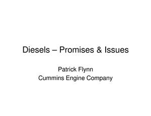 Primary view of object titled 'Diesels-Promises & Issues'.