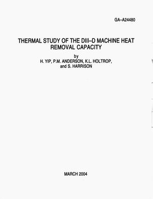 Primary view of object titled 'THERMAL STUDY OF THE DIII-D MACHINE HEAT REMOVAL CAPACITY'.