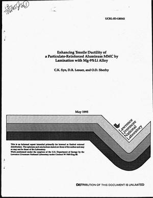 Primary view of object titled 'Enhancing tensile ductility of a particulate-reinforced aluminum MMC by lamination with Mg-9% Li alloy'.