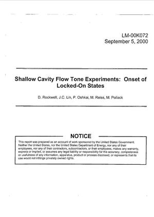 Primary view of object titled 'Shallow Cavity Flow Tone Experiments: Onset of Locked-On States'.