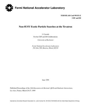 Primary view of object titled 'Non-SUSY exotic particle searches at the Tevatron'.