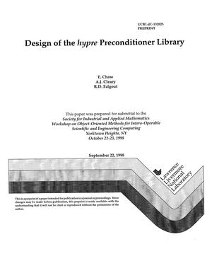 Primary view of object titled 'Design of the HYPRE preconditioner library'.