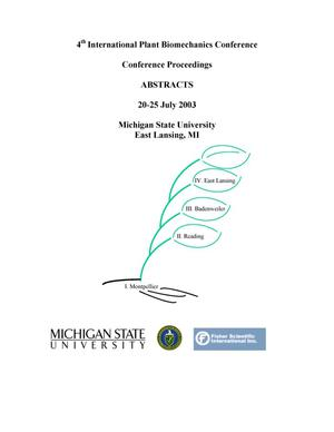 Primary view of object titled '4th International Plant Biomechanics Conference Proceedings (Abstracts)'.