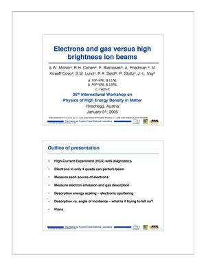 Primary view of object titled 'Electrons and gas versus high brightness ion beams'.