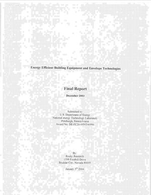 Primary view of object titled 'ENERGY EFFICIENT BUILDING EQUIPMENT AND ENVELOPE TECHNOLOGIES'.