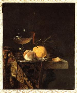 Primary view of object titled 'Still Life with Glass Goblet and Fruit'.