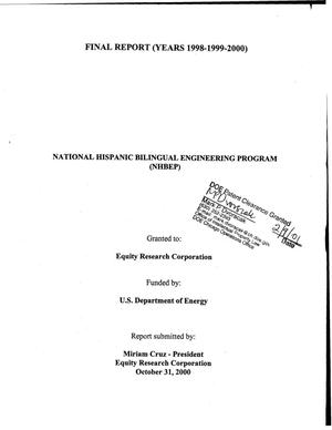 Primary view of object titled 'National Hispanic Bilingual Engineering Program (NHBEP)'.
