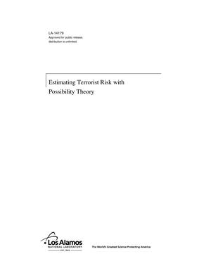 Primary view of object titled 'Estimating Terrorist Risk with Possibility Theory'.