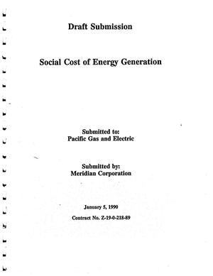 Primary view of object titled 'Draft Submission; Social Cost of Energy Generation'.