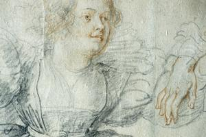 Primary view of Lady Sitting: Study for Garden of Love
