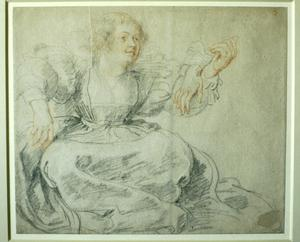 Lady Sitting: Study for Garden of Love