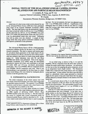 Primary view of object titled 'Initial tests of the dual-sweep streak camera system planned for APS particle-beam diagnostics'.