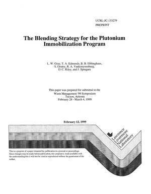 Primary view of object titled 'The blending strategy for the plutonium immobilization program'.