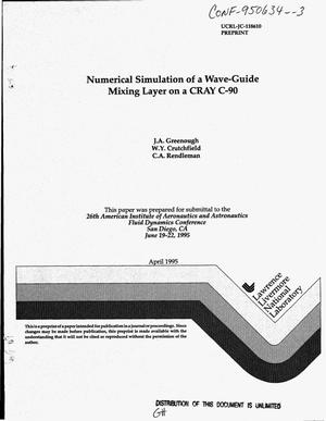 Primary view of object titled 'Numerical simulation of a wave-guide mixing layer on a Cray C-90'.