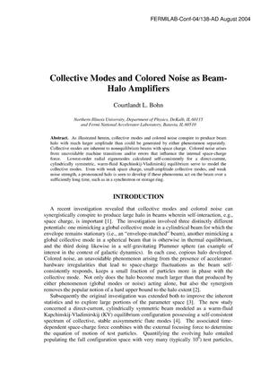 Primary view of object titled 'Collective Modes and Colored Noise as Beam-Halo Amplifiers'.