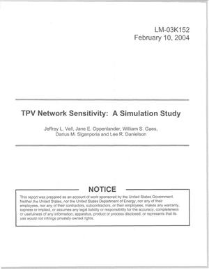 Primary view of object titled 'TPV Network Sensitivity: A Simulation Study'.