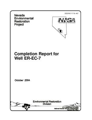 Primary view of object titled 'Completion Report for Well ER-EC-7'.