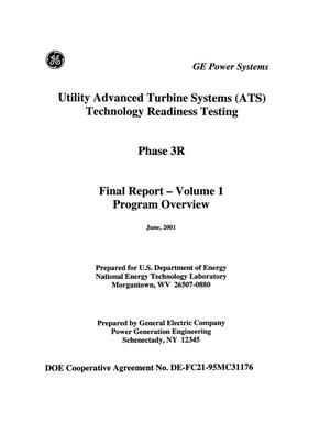 Primary view of object titled 'UTILITY ADVANCED TURBINE SYSTEMS(ATS) TECHNOLOGY READINESS TESTING'.