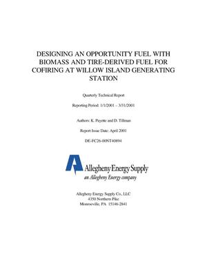 Primary view of object titled 'DESIGNING AN OPPORTUNITY FUEL WITH BIOMASS AND TIRE-DERIVED FUEL FOR COFIRING AT WILLOW ISLAND GENERATING STATION'.