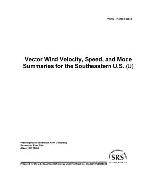 Primary view of object titled 'Vector Wind Velocity, Speed, and Mode Summaries for the Southeastern U. S.'.