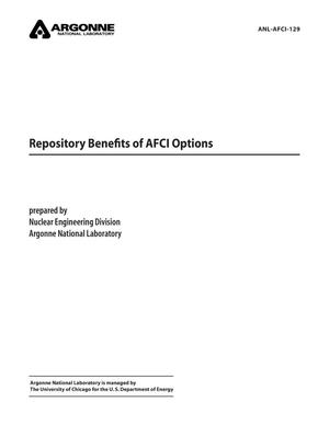 Primary view of object titled 'Repository benefits of AFCI options.'.