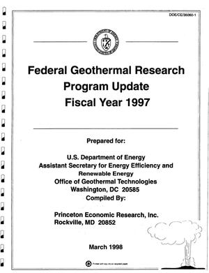 Primary view of object titled 'Federal Geothermal Research Program Update Fiscal Year 1997'.