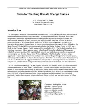 Primary view of object titled 'Tools for Teaching Climate Change Studies'.