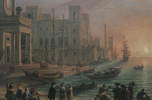 Primary view of A Seaport at Sunset