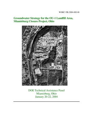 Primary view of object titled 'Groundwater Strategy for the Ou-1 Landfill Area, Miamisburg Closure Project, Ohio'.
